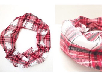Cowl plaid scarf