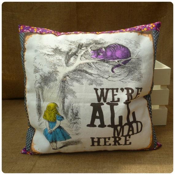 Alice In Wonderland Cushion Alice Pillow Alice By AuntiesAtticUK