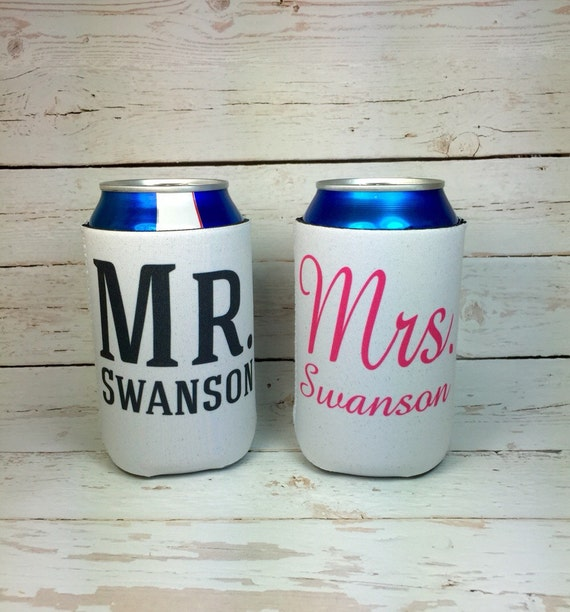 Mr And Mrs Can Coolers Mr And Mrs Wedding Gifts Bridal