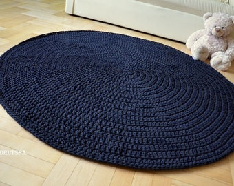 promotion many colors rond tapis crochet by craftladiesshop. Black Bedroom Furniture Sets. Home Design Ideas