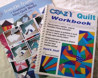 Lot 2 Books Quilting Sewing Patterns Instructional Paperback Book B810