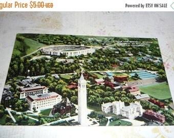 on sale UC Berkeley, California Campus Vintage Linen Postcard
