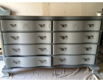Grey Dresser, Credenza, Buffet, Changing Table 9 drawer Dresser, Changing Table, Buffet, Credenza
