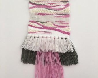 Dusky Pink & Grey Weave