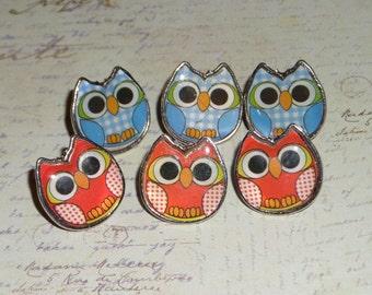 Owl decorative Push Pins, thumb tacks, party favor, gift, home decor, office decor