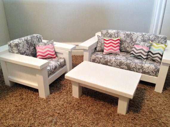 American Girl Furniture 3 Pc Living Room Set By Dutchdarling