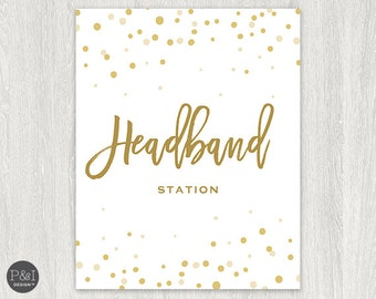 Headband Station Sign | Signage |  Instant Download 8x10