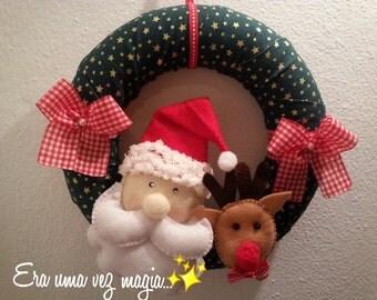 Felt Christmas Ornament * Santa Claus & Rudolf * Handmade Decoration Doll