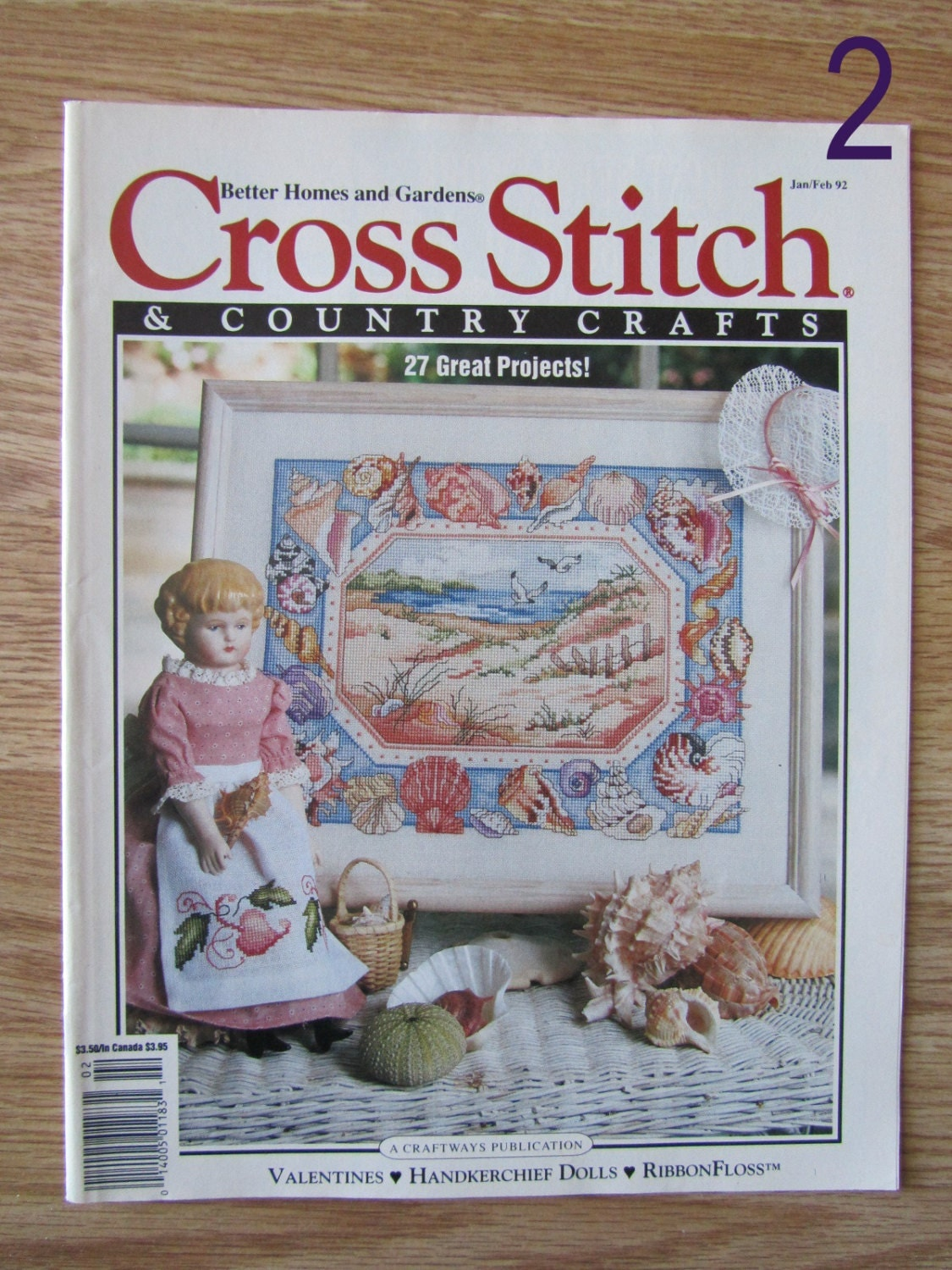 Cross stitch country crafts magazine back issues - Cross Stitch Country Crafts Vintage Magazines Back Issues 1987 1988 1990 1992 Stitcher S Accessories Medieval Manuscript Spring Wreath Sold By