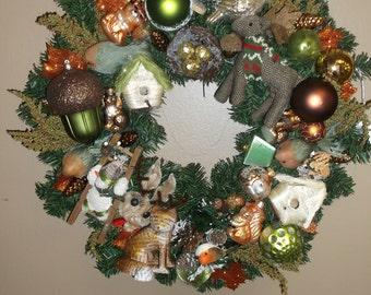 Hand Crafted Woodland Wreath