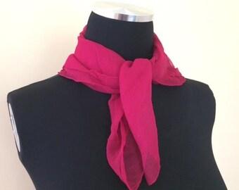 Magenta Silk Scarf