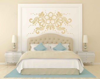 Lace Flower Decorative Sticker Vinyl Wall Decal
