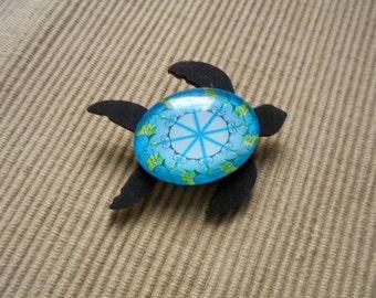 Brooch, sea turtle (1865)