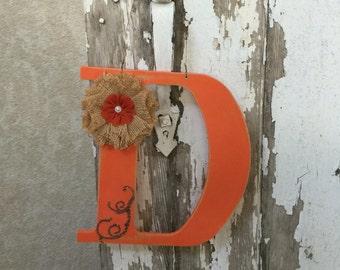 Monogram wood letter D
