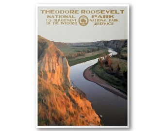 Theodore Roosevelt National Park Poster