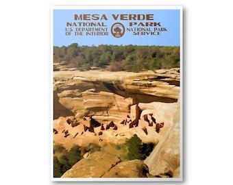 Mesa Verde National Park Travel Poster