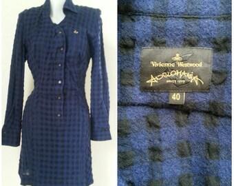 Sale!!! Vivienne westwood Anglomania Shirt Dress Size 40 Medium.