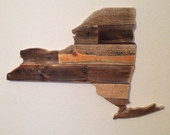 Small Reclaimed Wood New York Sign