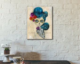 Dia de Los Muertos Skelly Original Artwork