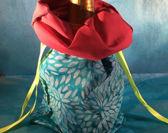 Wine Bag - Sky Petal/Magenta