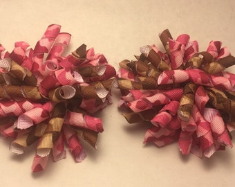 Camo Korker Hair Bow set