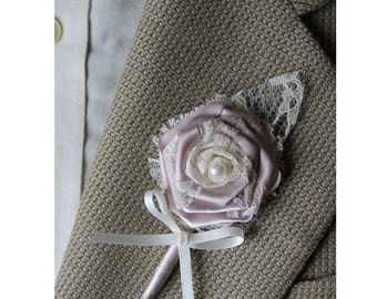 Dusty Rose Wedding Boutonniere Grooms Boutonniere Groomsmen Boutonniere Mens Wedding Boutonniere Dusty Rose Boutonniere Wedding Boutonnieres
