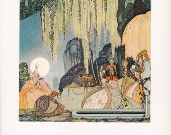 Kay Nielsen folk tale fairy tale print Felicia or the Pot of Pinks Madame d'Aulnoy home decor  8.5x11.5 inches