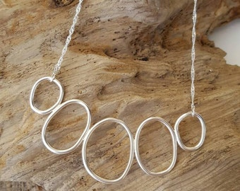 Sterling Silver loops necklace