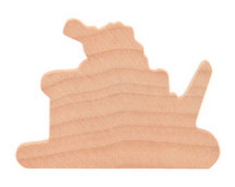 Wooden Santa Sleigh Cutouts from Birch Plywood 2 inches 1/4 Thick