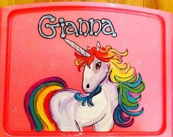 Unicorn activity tray, unicorn lap tray, unicorn art tray, unicorn tray, kids lap tray, girls lap tray, girls activity tray, kids game tray