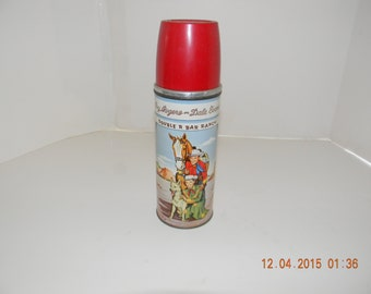 Vintage # 2177 Roy Rogers thermos for the Roy Rogers lunch box very nice condition