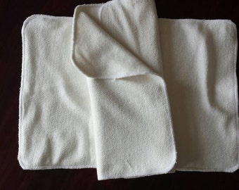 Folded bamboo cloth diaper inserts