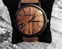 Whiskey Watches - Hand Customized Faux Wood Eco Watch - A Tree Planted For Every Purchase!