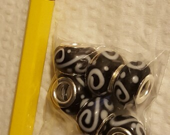 Glass Large Hole Beads
