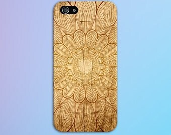 Wooden Autumn Flower x Geometric Phone Case, iPhone X, iPhone 7 Plus, Tough iPhone Case, Galaxy s8, Samsung Galaxy Case, Note 8, CASE ESCAPE