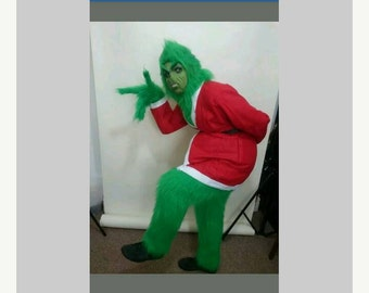 size Xl  grinchy grouchy lookalike  adult costume fur trousers/hood /gloves/but no face