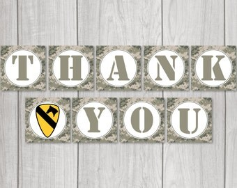 Military 'Thank You' Banner