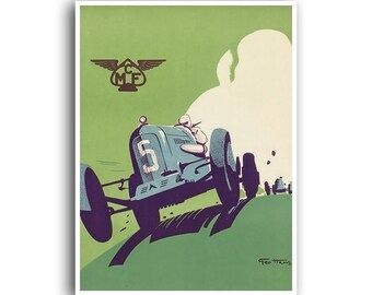 Vintage Car Art Auto Racing Race Car Print Motor Sports Poster (H380)
