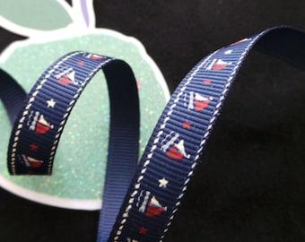 Boats Pattern Ribbon