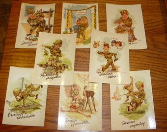 Funny military postcards