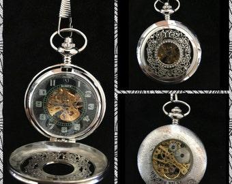 Gothic Emerald Pocket Watch