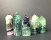 Rainbow Fluorite Standing Point- Fluorite Generators-Rainbow Fluorite Tower-Polished Fluorite Towers-Reiki Healing-Metaphysical Crystals