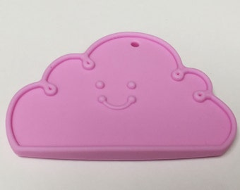 CLEARANCE - 20% OFF - Silicone Cloud Teether in Lavender - Silicone Teething, Silicone Teether, Teething Pendant
