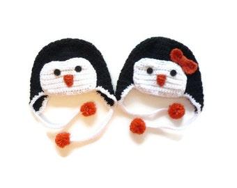 Crochet Penguin Hat // Penguin Hat