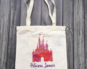 Princess Autograph bag with castle and personalized name perfect for your next Disney trip