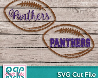 Panthers Football Outline SVG JPG PNG {Scrapbook Die Cut Heat Transfer Vinyl Cut} Silhouette Cricut svg Instant Download Sweet Kate Designs