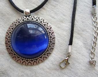BLUE CATSEYE  NECKLACE