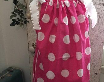Mandy's Closet Boutique Pink Dot Girls Bandana Dress Size 2-4