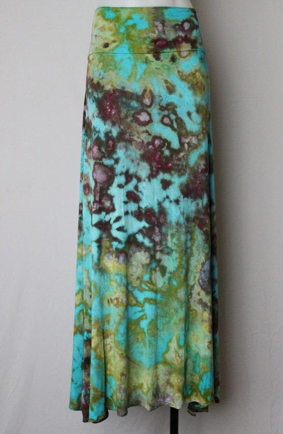 tie dye maxi skirt dyed size xx large undercurrent