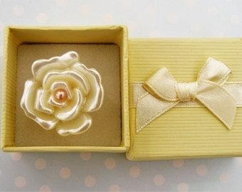 Resin Flower Adjustable Ring